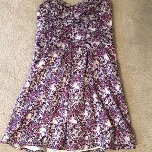 Floral Strapless Dress Express